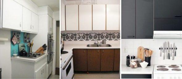 Замена кухонных фасадов пластиком