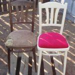 Замена обивки мягкого стула