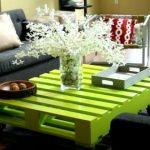 Зеленый столик из паллет своими руками