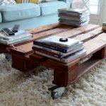 Журнальный столик на колесиках из поддонов