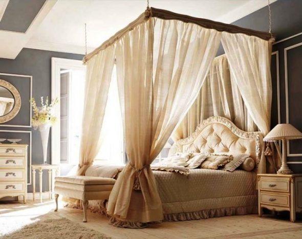 Балдахин - красивая текстильная занавеска