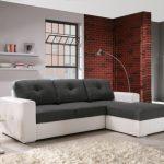 Бело-серый диван в стиле лофт
