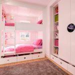 Детская для девочки с практичными ящичками под кроватью