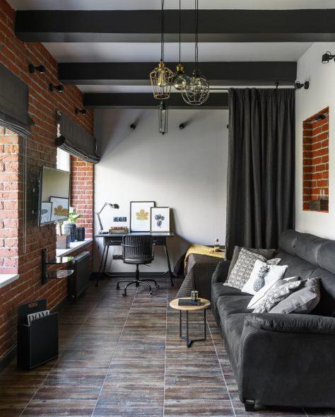 Дизайн спальни- гостиной