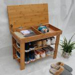 Интересная идея закрытого отделения в полочке для обуви