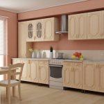 Комплект кухонной мебели в светлых тонах