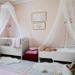 Красивые детские балдахины в комнате девочек