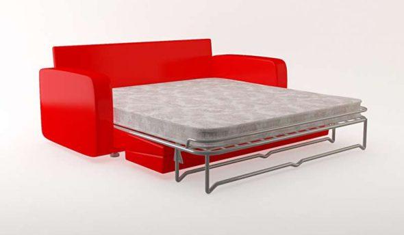 Красный диван-кровать