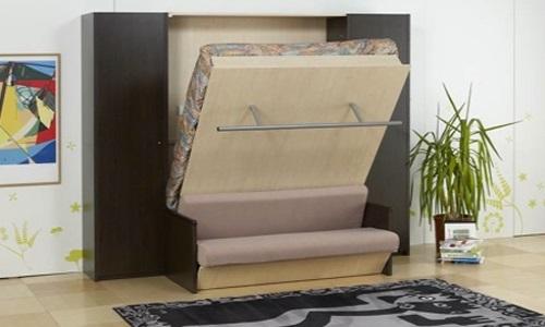 Кровать-трансформер удобна в маленьких помещениях