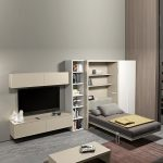 Кровать в шкафу для однокомнатной квартиры