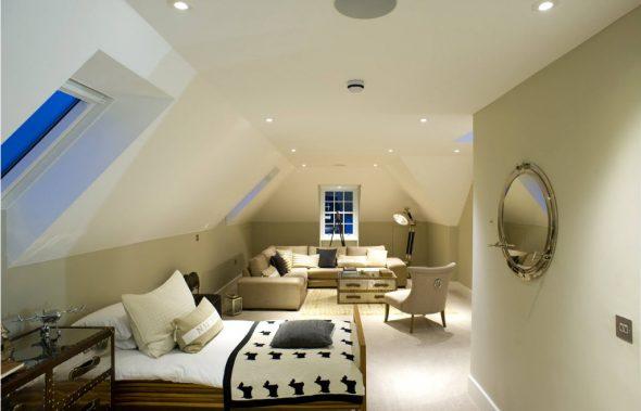 Осветительные системы для спальни-гостиной