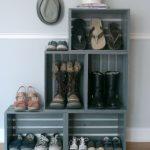 Полка из ящиков для обуви - без гвоздей