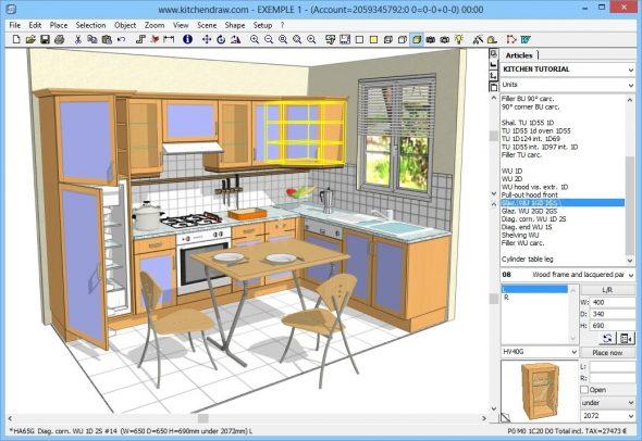 Пример программы KitchenDraw