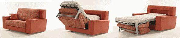 Прямой диван-раскладушка