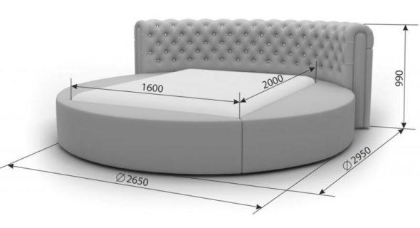 Схема круглой кровати