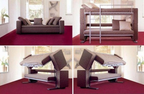 Софа-кровать двухъярусная