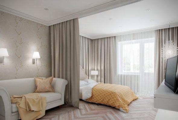 Спальня-гостиная в классическом стиле