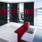 Стильный современный черный угловой шкаф
