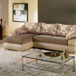 Угловой диван с механизмом дельфин в гостиную