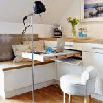 Выдвижной рабочий или обеденной стол на маленькой кухне