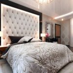 Большое изголовье каретная стяжка в рамке для уютной спальни