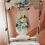 """""""Цветы и птички"""" для новой жизни старого стула"""