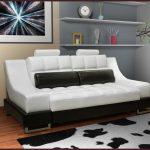 Диван кровать для ежедневного использования в бело-черном цвете
