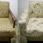 Красивое и удобное раскладное кресло после реставрации