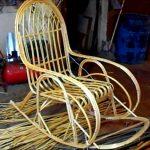 Кресло-качалка плетеное своими руками