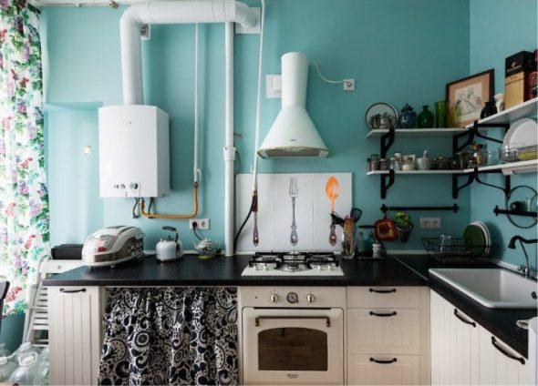 Кухня без навесных шкафов