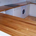 Кухонная столешница из массива дуба