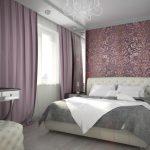 Мягкая обивка каретная стяжка для изголовья и пуфика в красивой спальне