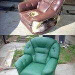 Обновляем старое ободранное кресло своими руками