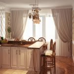 Шикарная кухня с островом без верхних шкафов