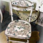 Стильное оформление декорированного стула