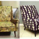Стильное решение для современной гостиной из старого кресла