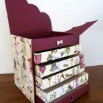 Стильный швейный комод из картона