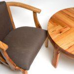 Стол и кресло из дерева ручной работы