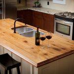 Столешница для кухонного острова из массива дерева