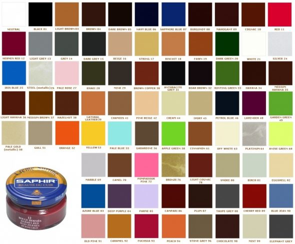 Спектр цветов крема