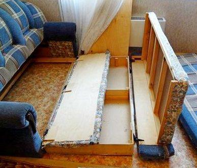 Обработка частей дивана