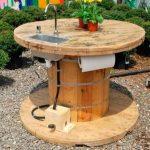 Удобный уличный стол круглой формы