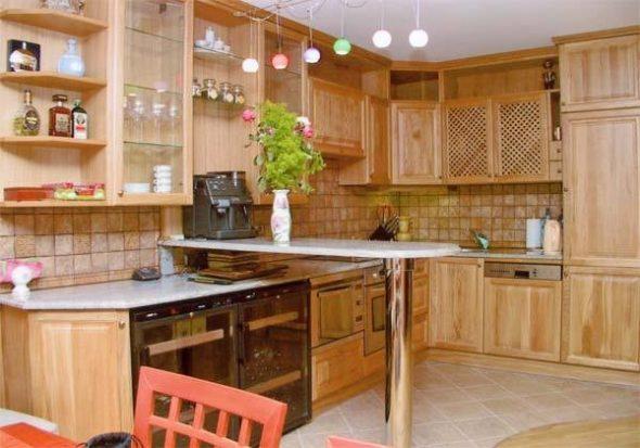 Кухня из мебельного щита