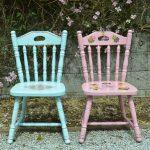 Варианты оформления стульев в технике декупаж для мальчика и девочки