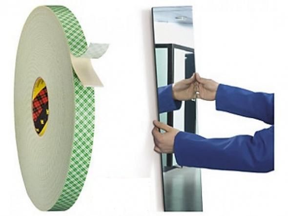 Двухсторонний строительный скотч для зеркала
