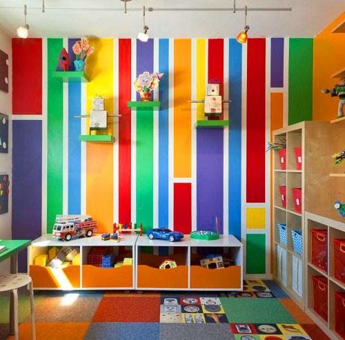 Яркие цвета для детской комнаты