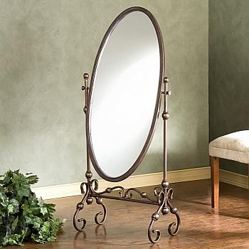 Овальное зеркало на подставке