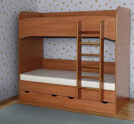Кровать для двоих детей из ДСП