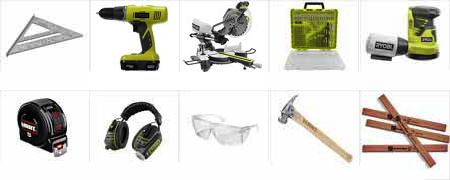 Инструменты для создания полки