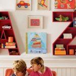 Оригинальный дизайн полок для книг в детскую